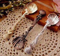 Wholesale Fashion royal wind spoon vintage gold and silver coffee spoon ice cream spoon