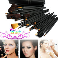 Wholesale Neverland Top Quality Best Price Professional Makeup Brush Set Cosmetic Make Up Brushes Kit Facial Tools With Black PU Leather Bag