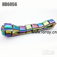 Wholesale by DHL Mixed Colors PACK Chirstmas Gift Magnetic Hematite Bracelet with Rainb