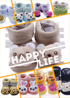 Wholesale Hot Sale Cotton Animal Head Shape Infant Shoes Kids Toddler Shoes Baby First Walker Shoes cm Made in China DDN