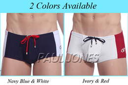 Wholesale Sexy Mens Splice Swimwear Trunk Boxer Briefs Size S XL CL4475