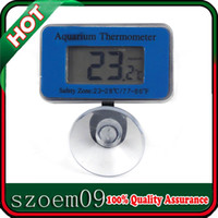 Wholesale LCD Display Waterproof Suction Dighital Mini Marine Fish Tank Wireless Aquarium Thermometer