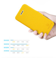 Wholesale colorful Original NILLKIN Fresh Series Wallet Leather Case for Apple iphone C with retail package