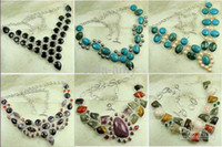 Wholesale Sterling hand made fashion silver jewelry carnet gemstone bracelet LB0063