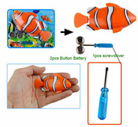 Fish   Cute Baby Bath Toys Electron Race Clown Fish Kids Bath Water Swimming Pool Paddle Toys new #90255