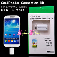 Wholesale Smart Connection Kit Micro USB OTG Card Reader Adapter Cable Support USB Keyboard Flash drive Mouse Printer For Samsung Galaxy