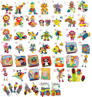 Wholesale 47 Styles Lamaze toys Lamaze Book Cloth Books Baby Toy Baby Car Bed Hanging Educational Toys Sound Paper BB Device baby toy