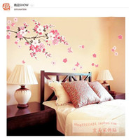 Wholesale Wall Stickers Sakura Wall Poster Fit Bedroom Living Room Ornament ZCC1