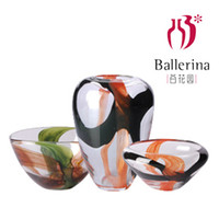 Wholesale Garden of colorful glass vase ornaments minimalist modern home decorative handicrafts Hotel Villa Glass