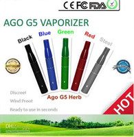 Wholesale Smoke eGo Herb Vaporizer Smoke Ago Dry Herb Atomizers Ago g5 Herb Vapor Thread eGo Smoke Cartridge dry herb ego DHL Free
