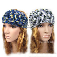 Headbands Mix color Europe and America Girls Headbands Flower headwrap Earband Headwear Winter Headband Crochet Headbands Women knitted headband with Flower Hair Accessories