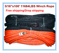 Wholesale 5 x100 uhmwpe synthetic winch cord strand braid dyneema winch rope LBS
