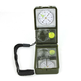 Wholesale T10 Portable Multi function Navigation Compass with Thermometer and Hygrometer in outdoor travel camping compass Newest