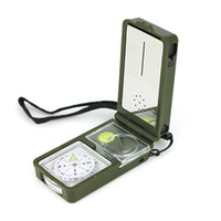 Wholesale Portable Navigation Compass with Thermometer and Hygrometer Outdoor Compass T10 pointer type multifunctional outside sport AAA Quality