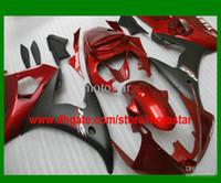 al por mayor yamaha r6 abs-amp rojo; mate carenados negros para 2003 2004 YZF R6 YZF-R6 03 04 YZFR6 600 carenado kits kit personalizados