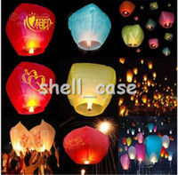 Sky Lantern Holiday  2013 New Christmas Gift Colorful Flying Lantern Wishing Lantern Fire Balloon Chinese Kongming Lantern Wish Lamp Sky Lanterns Free Shipping