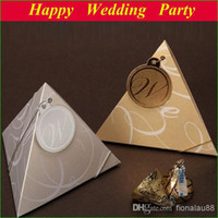 Wholesale 13113002 European style Wedding Favor Boxes Golden amp Silver Paper Candy Boxes Chocolate Gift Boxes drop shipping