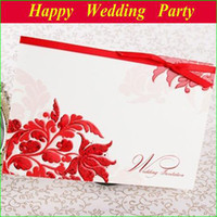 Invitation Cards Folded mutil color Floral Wedding Invitation Red & White Card Printable and Customizable with envelope and seal 13113008