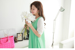 Wholesale Hot Loose pregnant dress chiffon beaded dress Maternity Dresses qjq451