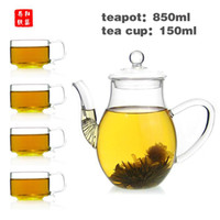 atmosphere heat - new style heat resistant glass teapot ml And ml tea cup or Beautiful atmosphere of glass tea sets