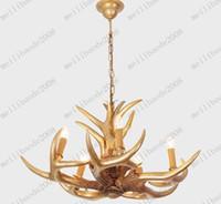 antler x - Modern Fashion Unique Resin Antler Gold Silver Resin Pendant Light Chandelier Living Room Light D700mm X H400mm MYY7606