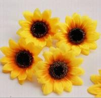 Wholesale Artificial flowers silk flower head of small flowers sunflower sunflowers9100pcs