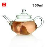 Wholesale 350ML Glass Teapot Easy Use Tea Set For Make Flower Tea And Coffee