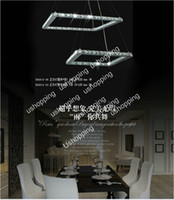 Modern Hotel Silver Wholesale - 2013 Hot Sale 40cm Square LED Crystal Chandelier+Free shipping Modern Design Pendant Lamp Lighting Fixture PL269
