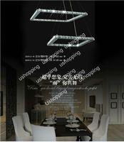 Modern Hotel Gold Wholesale - 2013 Hot Sale 40cm Square LED Crystal Chandelier+Free shipping Modern Design Pendant Lamp Lighting Fixture PL269