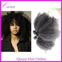 Curly Brazilian Hair Hair Extension Cara 8-26inch 4 or 5pcs lots afro kinky curly weaving Brazilian Peruvian Malaysian Indian virgin remy human hair extensions natural black