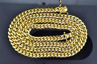 Wholesale 14K Solid Heavy MM Yellow Gold Miami Cuban Link Chain Necklace Inch g