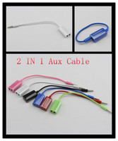 Wholesale AUX Cable mm Male to Female in couple Cable for iphone5s c g s ipad ipod Mp3 Mp4 audio cable good quality HZM