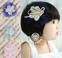 Barrettes cloth Solid Children Lace Flower Bow hair clips hairpins baby girl Barrettes kids hair clips flower hairpin