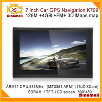 Wholesale 7 inch Car GPS Navigation K709 M FM Free Maps GB D map Car GPS Navigator System CE Media TekMT3351