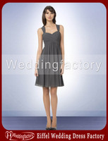 Wholesale Country Style Hot Sale Very Cheap Bridesmaid Dresses A Line Sweetheart with Straps Short Dress with Pleats Maid of Honor Gowns for Weddings