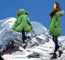 Wholesale Hot winter Thick warm pregnant women fur collar coat maternity coat qjq456