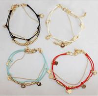adjustable string bracelet - Newest Hamsa Hand Bracelets Revolving Lucky Transporter Bracelet Red String Chain Charm Adjustable Bangle Jewelry