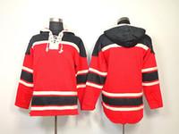 blank hoodie - Blackhawk Hockey Hoodies Blank Hockey Jerseys Long Sleeve Hoodie with Hats Stitch Logo and Name Hoodies Mix Order
