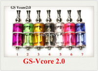 Wholesale EGO Electronic cigarette atomizer GS Vore double atomizer GS CE9 Solid liquid dual gas electric separation top AAAAA