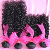 Jerry curl Malaysian Hair 100% virgin human hair Kinky 5A Malaysian Virgin Curly Hair, Unprocessed Jerry Curl Human Hair Weave 3 4pcs lot Malaysian Hair Bundles Free Shipping
