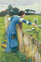 oil painting gallery - John William Waterhouse Echo Reproduction Oil Painting the Flower Picker Fine Canvas Artwork Frameless Oil Painting Art Gallery