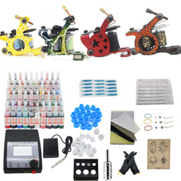 Wholesale USA Dispatch Professional complete cheap tattoo kits guns machines ink sets Grip equipment power supply USA warehouse K301