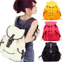 Wholesale S5Q Korean Style Girls Vintage Canvas Cute Rucksack Satchel Travel Schoolbag Bookbag Backpack AAACCK