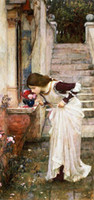 Wholesale Oil Painting Replicas of John William Waterhouse Echo The Taste of Flowers High Quality Wall Oil Paintings Unframed Sale Online