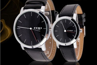 Unisex Quartz-Battery Black 2014 New Arrival Eyki Brand Mens women Leater Big dial watch Japan quartz movements 3 colors