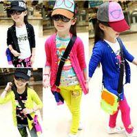 Wholesale Baby Girls cardigan coat kids children long sleeve outwear girls princess Coat candy color