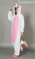 Regular adult unicorn onesie - Lovely Pink Unicorn Kigurumi Bridal Undergarments Pajamas Animal Cosplay Costume unisex Adult Onesie Dress Or Sleeping Home Dress