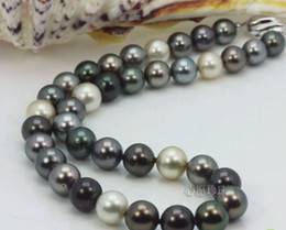 Wholesale Best Buy Pearls Jewelry stunning mm tahitian multicolor pearl necklace inches k