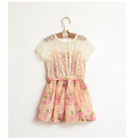 baby girl kids flower dress floral dress lace dress crochet ...