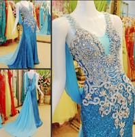 als light - 2015 Red blue Stunning Mermaid Strap Evening Dresses New Sexy Jewel Cryst2014 Luxury Custom als Sequins Gold Prom Dresses Wedding Dresses